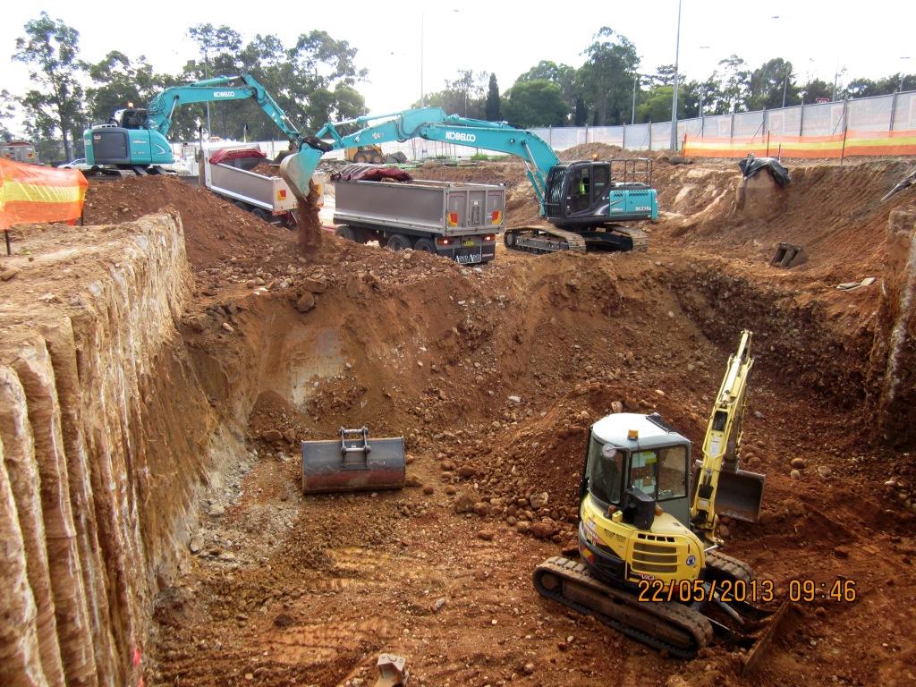 Sydney site: Excavation Progress