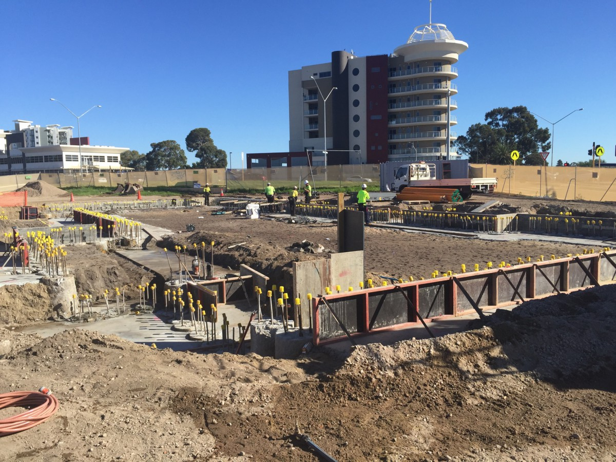 iFLY Perth capping beam